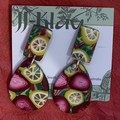 lemon  and Pomegranate Statement Earrings