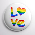 Rainbow Love  58 mm badges or magnets