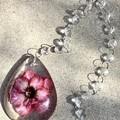 Hanging Resin Dew Drop Desert Rose Flower #3
