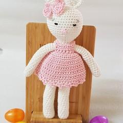 Cotton crocheted Rabbit Doll