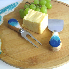 Resin Ocean Themed Cheese Board Set 1 & a Free Knife