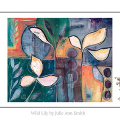 Art Print - 8 x 10 - Wild Lily - Abstract Floral Wall Art - Australia