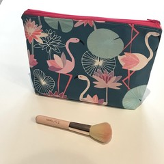Fabulous flamingos toiletries bag