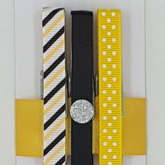 Yellow & Black peg magnet