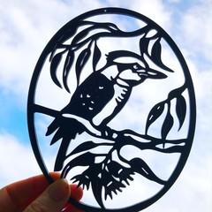 Kookaburra woodcut