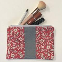 Pink Liberty flowers purse