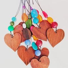 Jarrah Heart pendant