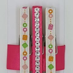 Pink Bling peg magnet