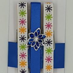 Blue Flower peg magnet