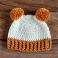 Handmade Crochet Knitted Newborn Pompom Baby Beanie Bonnet Hat