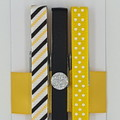 Yellow & Black peg magnet