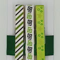 Green & Black peg magnet
