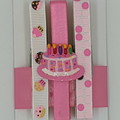 Birthday Cake peg magnet
