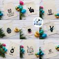 Personalised Easter Egg Hunt Bag 11 Designs 3 Sizes Bunny Name Calico Bag