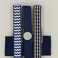 Navy & White peg magnet