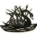 Black Swan woodcut
