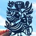 Bird Garden woodcut