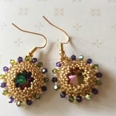 Beaded earrings. Audrey Swarovski beaded earrings.