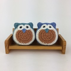 Two Owl Softies | Pair | Soft Toys | Gift Idea | Hand Crocheted | Wool & Bamboo