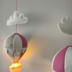 Nightlight Air Balloon Small Dusty Pink