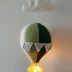 Nightlight Air Balloon Small Green/Neutral