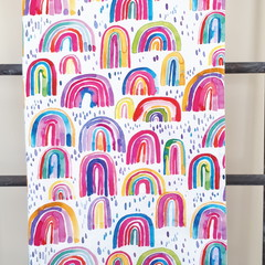 Baby Blanket - Colourful Rainbow - Cotton and Flannel