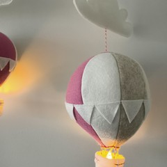 Nightlight Air Balloon Large Dusty Pink