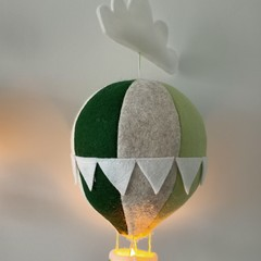 Nightlight Air Balloon Large Green/Neutral