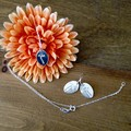 Recycled 99.9% silver dandelion seed necklace and earrings