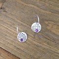 Recycled Silver 'LOTUS FLOWER' earrings with amethysts