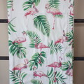 Baby Blanket - Tropical Flamingo - Cotton and Flannel