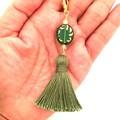 Tassel Necklace, Adjustable Necklace with Detachable Charm Pendant, Boho Necklac