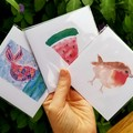 Small Watercolour Print Greeting Cards- Blank