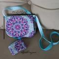 Over-shoulder small market bag & detachable coin purse