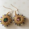 Beaded earrings. Audrey Swarovski beaded earrings.