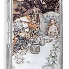 Alice in Wonderland Tea Party illustration by Arthur Rackham