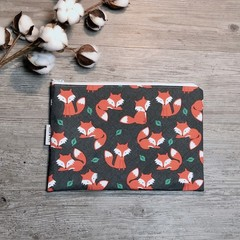 Nappy Wallet - Clutch -Makeup - Foxes - Baby boy unisex