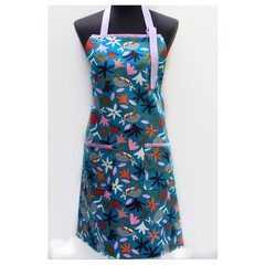 Kangaroo Kapers ladies botanical design one piece apron