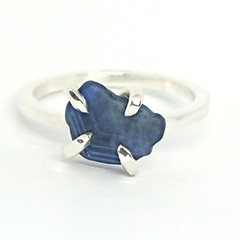 Rough Sapphire Sterling silver Ring