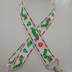 Hungry Caterpillar lanyard / ID holder / badge holder