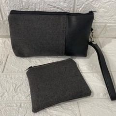 GREY - AYVAH CLUTCH BAG