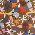 Koala Cuddles ladies cotton one piece apron in botanical design