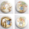Peter Rabbit set of 8 x 25 mm badges or magnets illustrations by Beatrix Potter