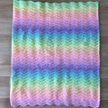 Ombre Rainbow Ripple Weighted Blanket