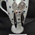 Boho Style Silver drop Earrings with Free Postage