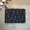Nappy Wallet - Clutch -Makeup - Black Arrows - Baby Boy Unisex
