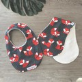 Bib & Burp Cloth Gift Set - Fox - Girl -Baby Boy - Unisex