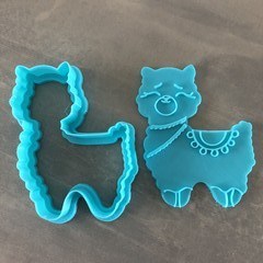 Llama cookie cutter and embossed.