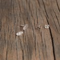 Quirky Hand Studs in Sterling Silver