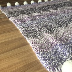 Ombre Purple Chunky Ripple Blanket